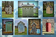 Outhouses Acrylic Prints - Montage of Outhouses Acrylic Print by Paul Ward