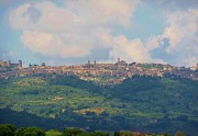Tuscany Wine Framed Prints - Montalcino Framed Print by Marilyn Dunlap