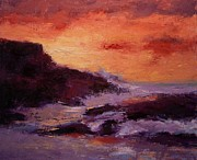 R W Goetting - Montana De Oro at sunset