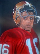 49ers Painting Prints - Montana Print by Graham McLeod