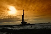 Oil Rigs Prints - Montana Oil Print by Jeff  Swan