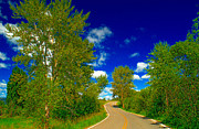 Fading Dream Photos - Montana Road - 4 by Larry Mulvehill