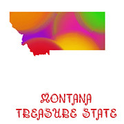 Montana State Map Posters - Montana State Map Collection 2 Poster by Andee Photography