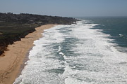 Bayarea Prints - Montara State Beach Pacific Coast Highway California 5D22622 Print by Wingsdomain Art and Photography