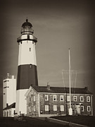 Hamptons Photos - Montauk Lighthouse by Maureen Cunningham