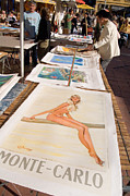 Cours Saleya Prints - Monte Carlo Poster Girl Print by Barry Mason