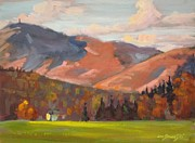 Berkshire Hills Paintings - Monte Vista by Len Stomski