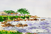 Sketchbook Painting Prints - Monterey- California Sketchbook Project Print by Irina Sztukowski