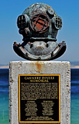 Diving Helmet Prints - Monterey Cannery Divers Memorial Print by Susan Wiedmann