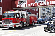 Fire Department Photos - Monterey Fire Engine On Monterey Cannery Row California 5D25059 by Wingsdomain Art and Photography