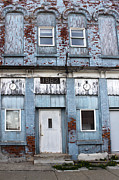 Montezuma Iowa - Blue Brick Building Print by Gregory Dyer