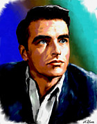 Star Paintings - Montgomery Clift by Allen Glass