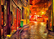 Awesome Digital Art Posters - Montmartre at Night Poster by Yury Malkov