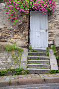 Wooden Stairs Prints - Montmartre Door Print by Brian Jannsen
