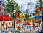 Montmartre Paintings - Montmartre Paris by Karen Tarlton