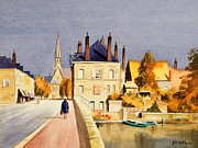 Gaul Paintings - Montoire Sur-le-Loir by Bill Holkham