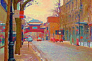 Montreal Paintings - Montreal Chinatown Pagoda Gateway Arches Entrance St Laurent And La Gauchetiere City Scenes Cspandau by Carole Spandau