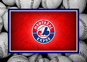 Baseball Bat Photo Framed Prints - Montreal Expos Framed Print by Joe Hamilton