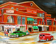Delivery Truck Paintings - Montreal Forum 1960 by Michael Litvack