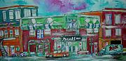 Litvack Paintings - Montreal Pharmacy by Michael Litvack