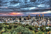 Montreal Art - Montreal Skyline Sunset from Mount Royal by Shawn Everhart