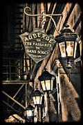 Gass Framed Prints - Montreal - Street Lamps Light the Way Framed Print by Lee Dos Santos