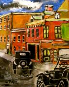 Model T Ford Paintings - Montreal Then by Michael Litvack