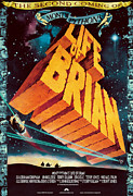 Movies Digital Art Framed Prints - Monty Python Life of Brian Poster Framed Print by Sanely Great
