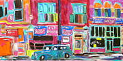 Store Fronts Paintings - Monument National 1950s by Michael Litvack