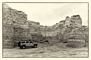 Sepia Chalk Posters - Monument Rocks - Chalk Pyramids Poster by Bill Kesler