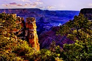 Painted Mixed Media - Monument to Grand Canyon  by Nadine and Bob Johnston