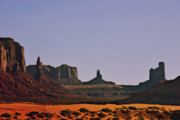 Sunset Posters - Monument Valley - an iconic landmark Poster by Christine Till