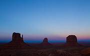 Tracey Hunnewell Framed Prints - Monument Valley At Sunset Framed Print by Tracey Hunnewell