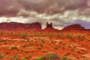 Arizona Western Art Framed Prints - Monument Valley Framed Print by Ayse T Werner