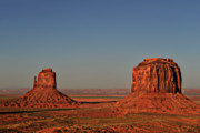 Iconic Posters - Monument Valley - East Mitten and Merrick Butte Poster by Christine Till