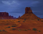 Southwest Landscape Pastels Metal Prints - Monument Valley- Impending Storm Metal Print by Xenia Sease
