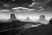 Desert Southwest Prints - Monument Valley in Black and White Print by Lucinda Walter