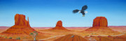 John Wayne Paintings - Monument Valley by Jerome Stumphauzer
