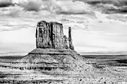 Old West Drawings - Monument Valley by John Haldane