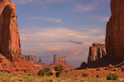 Scenic Landscapes Prints - Monument Valley - Mars-like terrain Print by Christine Till