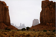 Robert Lozen Posters - Monument Valley Mist Poster by Robert Lozen