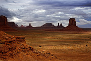 Southwest Landscape Metal Prints - Monument Valley Navajo Tribal Park Metal Print by Ellen Lacey