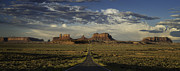 Rock Formation Metal Prints - Monument Valley Panorama Metal Print by Steve Gadomski