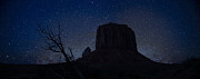 Monument Valley Prints - Monument Valley Starlight Print by Steve Gadomski