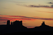 Jeff Brunton Metal Prints - Monument Valley Sunset 1 Metal Print by Jeff Brunton