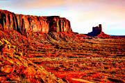 Monument Valley Sunset By Bob Johnston Print by  Bob and Nadine Johnston