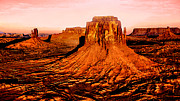 Jeff Mixed Media - Monument Valley Sunset by Nadine and Bob Johnston