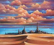 Acrylics On Canvas Paintings - Monument Valley by Susi Galloway