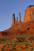 Surreal Landscape Photos - Monument Valley - The Three Sisters by Christine Till