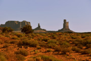 Natural Formations Posters - Monument Valley - Unusual landscape Poster by Christine Till